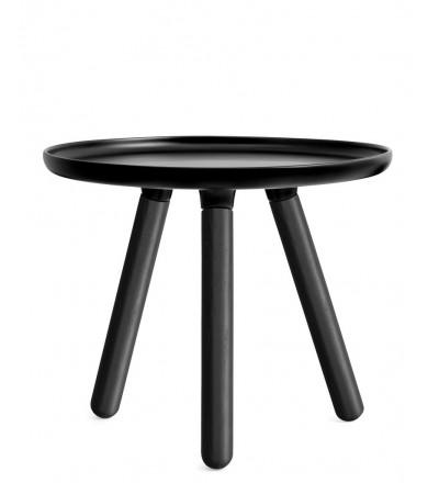 Stolik TABLO Normann Copenhagen - okrągły czarny i biały