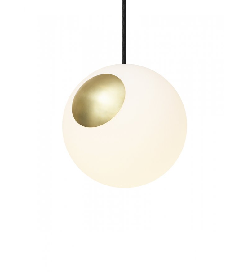 Lampa Bright Spot Brass Nordic Tales - mosiądz + czarny przewód
