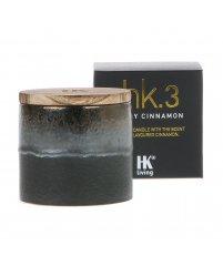 Świeca sojowa w ceramicznym słoju HK Living - o zapachu pikantnego cynamonu