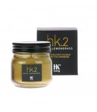 Świeca sojowa w szklanym słoju HK Living - o zapachu trawy cytrynowej