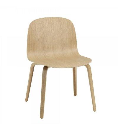 OUTLET Krzesło drewniane VISU Wide Chair Muuto - dąb