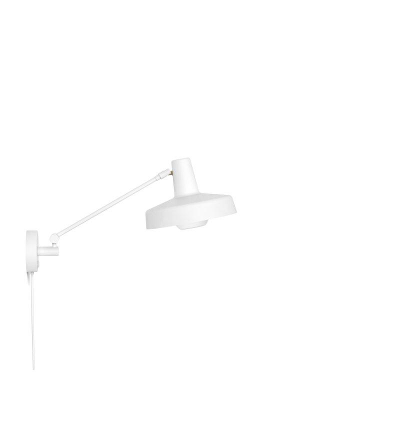 Kinkiet ARIGATO WALL SHORT krótki, biały - odłączany przewód