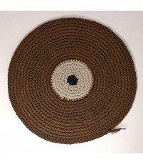 Dywanik okrągły pleciony ze sznurka Motarnia - średnica 80 cm