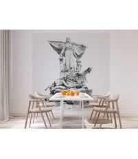 Tapeta / mural SEDINA ONWALL - czarno-biała, 2x2m