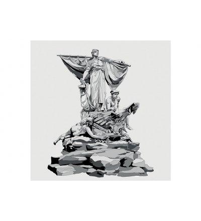 Tapeta / mural SEDINA ONWALL - czarno-biała, 3x3m