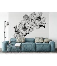 Tapeta / mural BRAMA PORTOWA ONWALL - czarno-biała, 2x2m