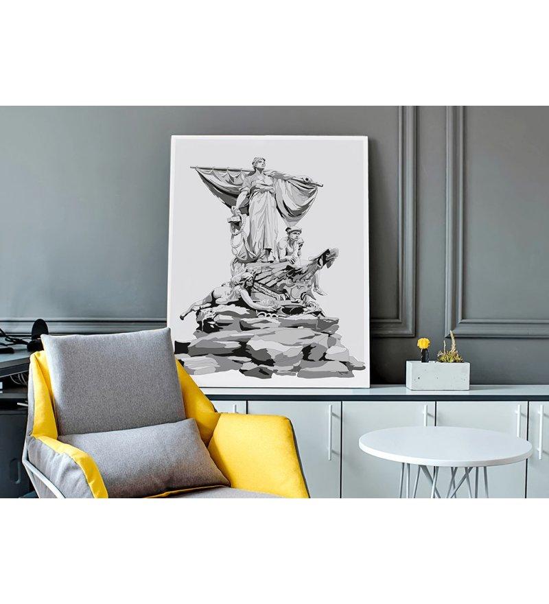 Obraz SEDINA ONWALL - czarno-biały, 50x70cm
