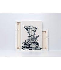 Obraz SEDINA ONWALL - czarno-biały, 70x100cm