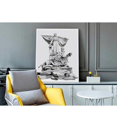 Obraz SEDINA ONWALL - czarno-biały, 100x150cm