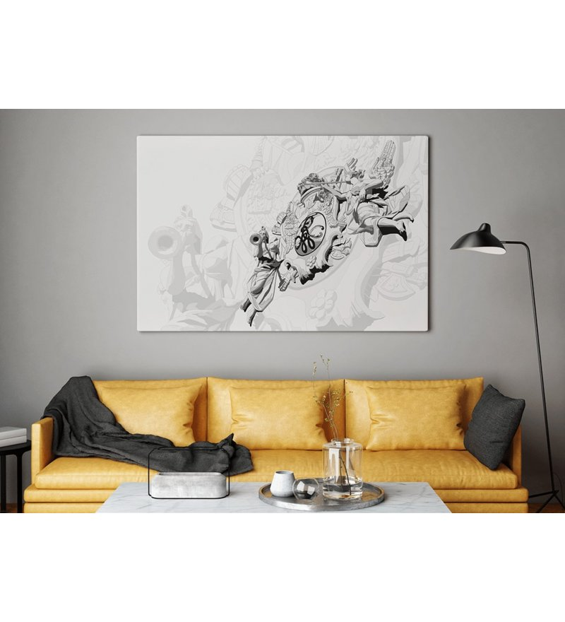 Obraz BRAMA PORTOWA ONWALL - czarno-biały, 70x100cm