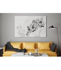Obraz BRAMA PORTOWA ONWALL - czarno-biały, 120x160cm