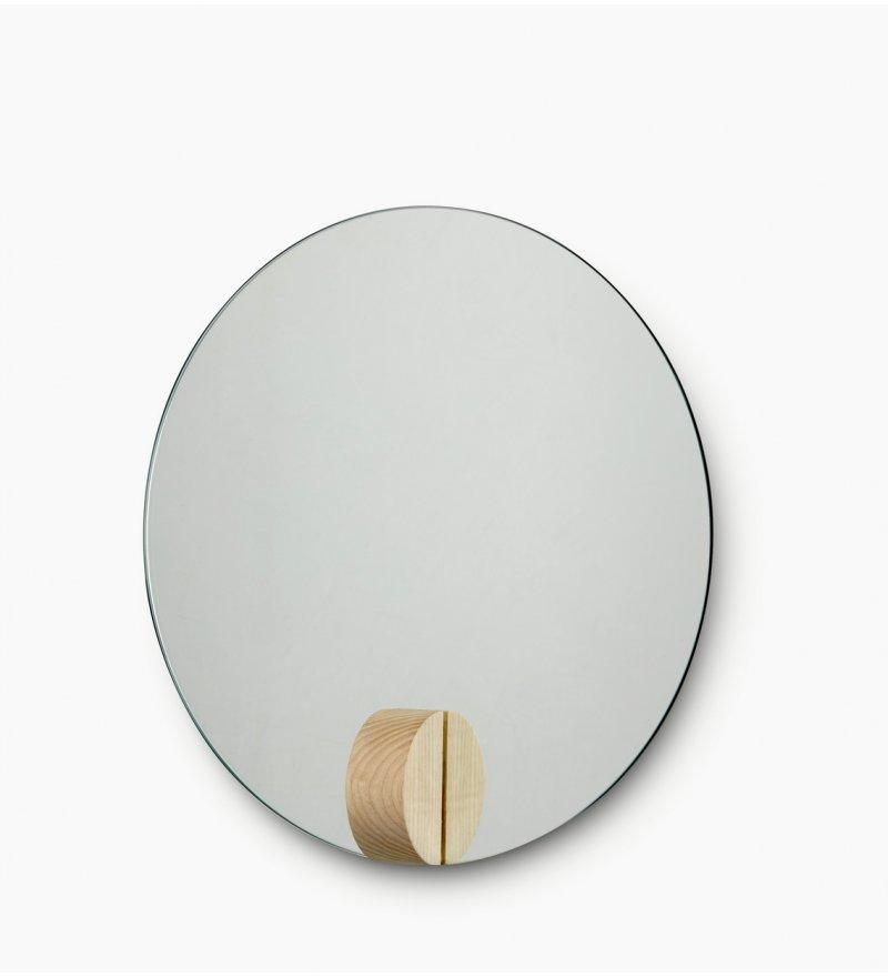 Lustro Fullmoon Skagerak - średnica 30cm, jesionowe