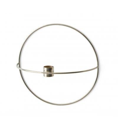 Świecznik okrągły POV Menu - srebrny, rozmiar S