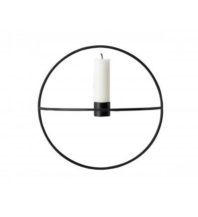 Świecznik okrągły POV Menu - czarny, rozmiar S