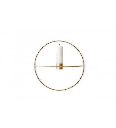 Świecznik okrągły POV Menu - mosiężny, rozmiar S