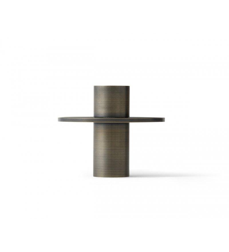 Świecznik Antipode Menu - wersja 01, brązowy mosiądz
