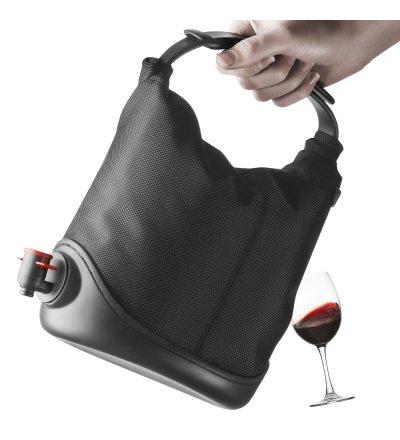 Torba na wino Baggy Winecoat Menu - czarna