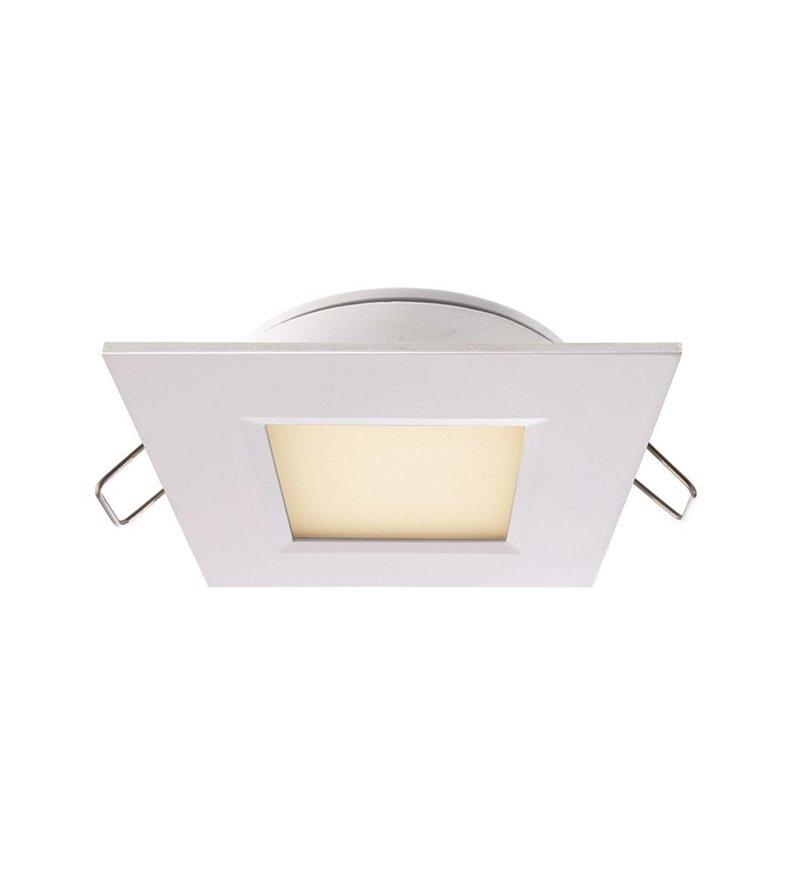 Lampa sufitowa łazienkowa LED Deko-Light - biała, kwadratowa, 3W, IP44