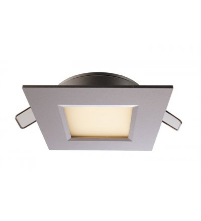 Lampa sufitowa łazienkowa LED Deko-Light - srebrna, kwadratowa, 3W, IP44