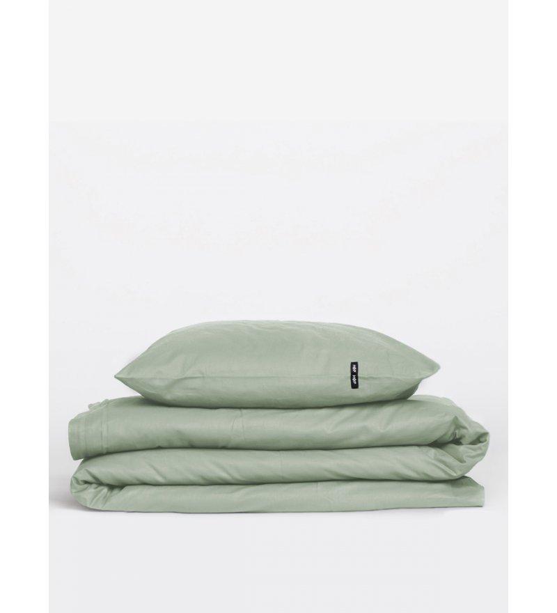 Poszwa na kołdrę Pure HOP DESIGN czysta bawełna płótno jasnozielone