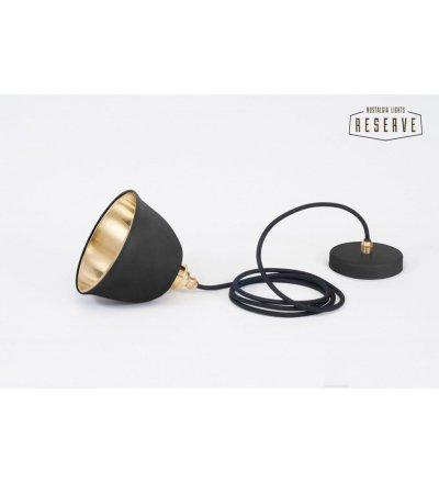 Lampa NL RESERVE MINIATURE BELL Nostalgia Lights - czarny mat + mosiądz