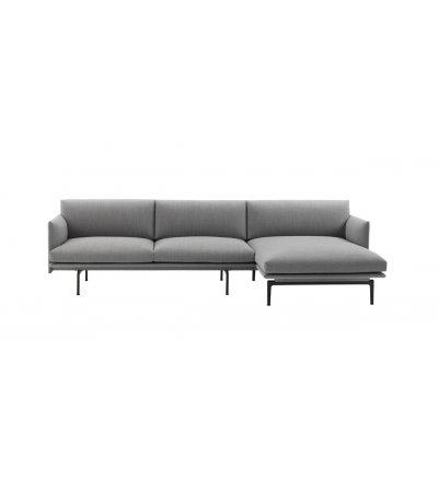 Sofa Chaise Longue right OUTLINE MUUTO - różne kolory