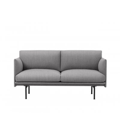 Sofa Studio OUTLINE MUUTO - czarna podstawa, różne kolory