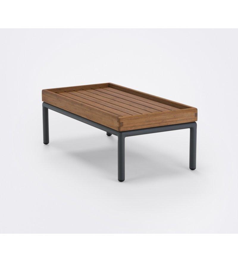 Stolik kawowy Level HOUE - 40,5x81cm, bambusowy, na zewnątrz