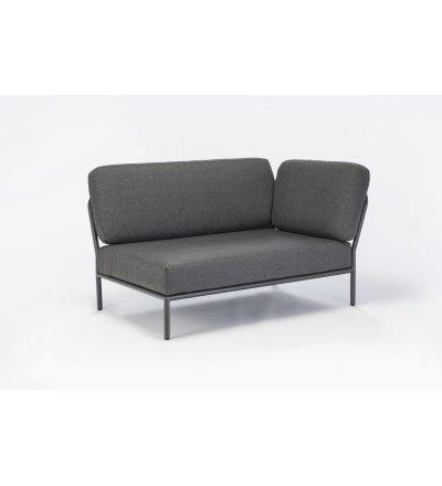Sofa modułowa ogrodowa prawa Level HOUE - Dark Grey / Basic, na zewnątrz