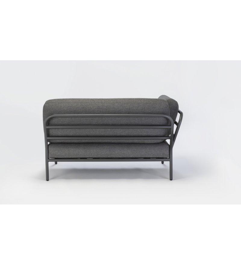 Sofa modułowa ogrodowa lewa Level HOUE - Dark Grey / Basic, na zewnątrz