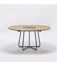 Stół CIRCLE HOUE - ø150cm, bambusowy, szara podstawa, na zewnątrz