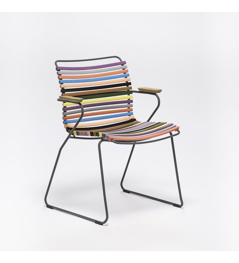 Krzesło ogrodowe CLICK Dining Chair z podłokietnikami HOUE - różne kolory, na zewnątrz