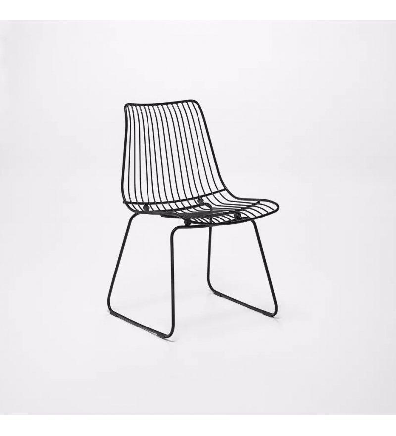 Krzesło ogrodowe ACCO Dining Chair HOUE - czarne, na zewnątrz