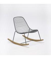 Krzesło bujane SKETCH Rocking Chair HOUE - szare, na zewnątrz