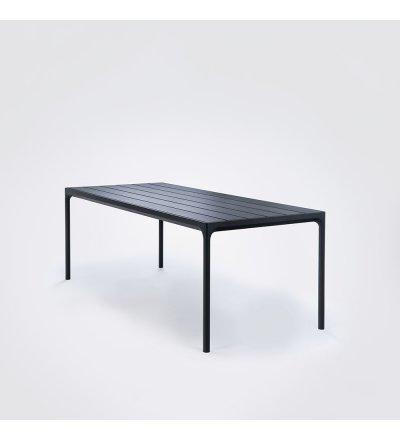 Stół ogrodowy FOUR HOUE - 210x90cm, czarny, na zewnątrz