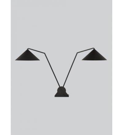 Lampa biurkowa Gear table double Northern - podwójna, czarna
