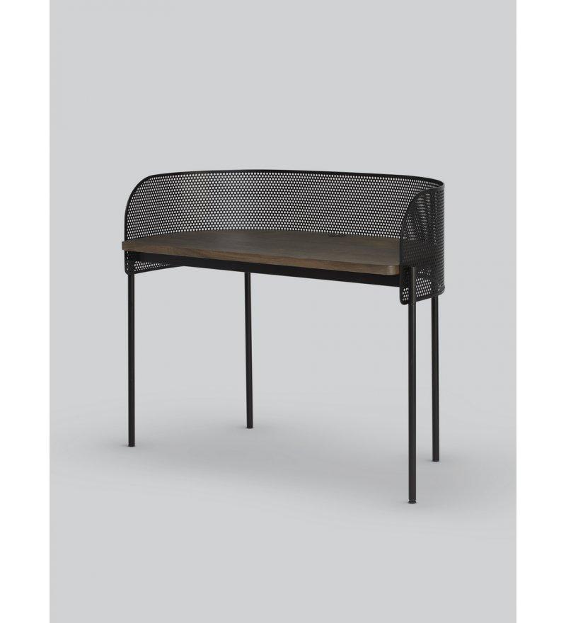 Biurko Shelter Northern -  w kolorze przydymionego dębu / czarne
