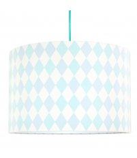 Lampa sufitowa romby pastelowe Young Deco - turkusowo-kremowa