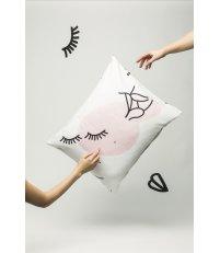 Poszewka na poduszkę FREE LOVE HOP DESIGN z czystej bawełny – satyna (graphic collection)