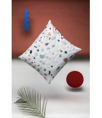 Poszewka na poduszkę TERRAZZO HOP DESIGN z czystej bawełny – satyna (graphic collection)