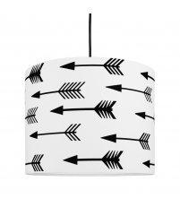 Lampa sufitowa MINI strzałki Young Deco - czarno-biała
