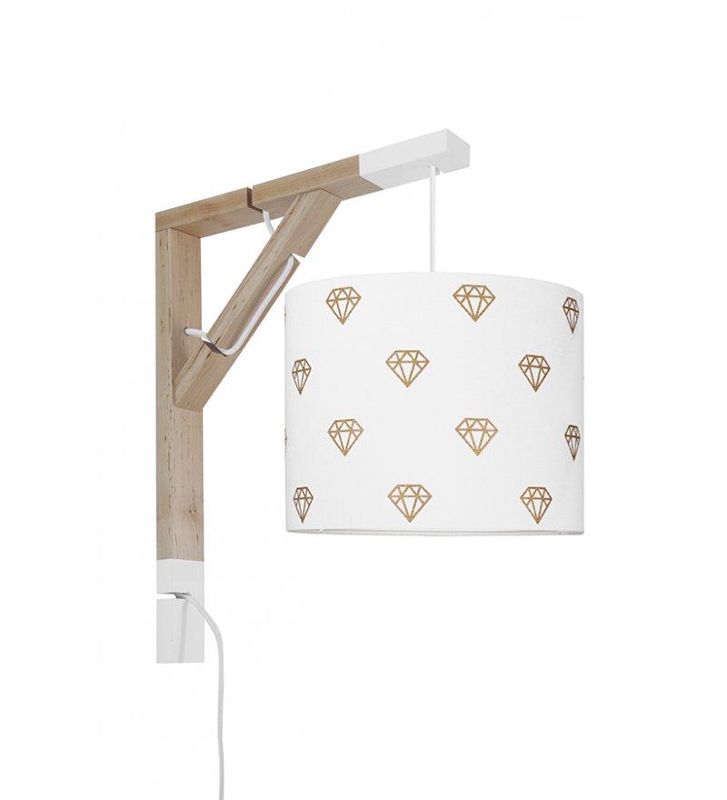 Lampa Simple Diamenty Young Deco - biało-złota
