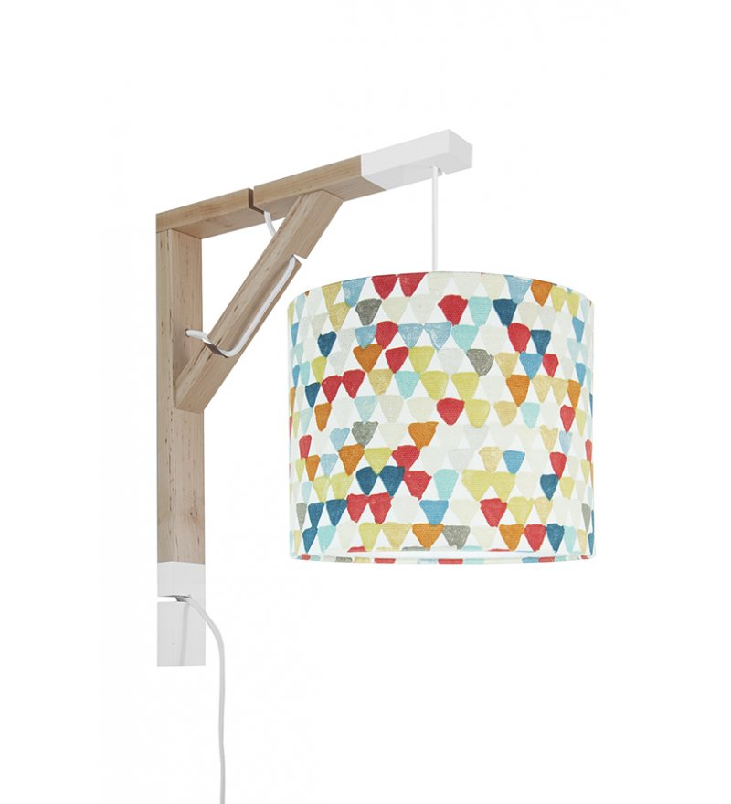 Lampa Simple kolorowe trójkąciki Young Deco - wielokolorowa