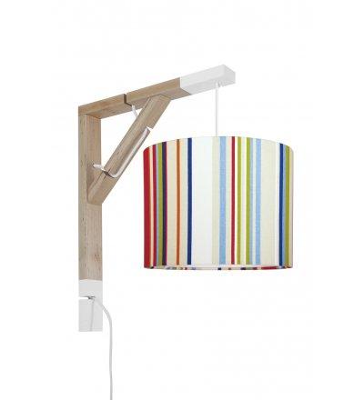 Lampa Simple kolorowe paski Young Deco - wielokolorowa