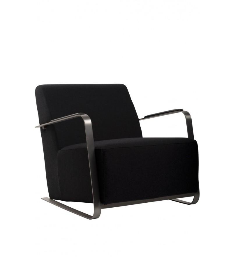 Fotel tapicerowany Adwin czarny filc Zuiver