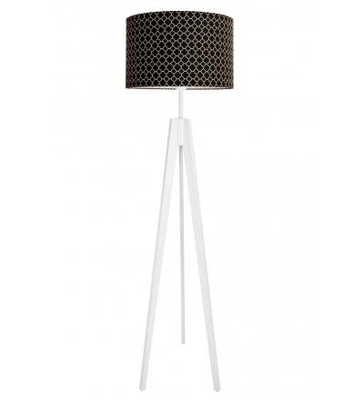 Lampa podłogowa koniczyna marokańska mała Young Deco - czarna