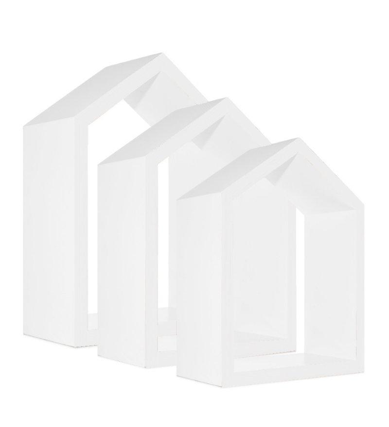 Półki domki Young Deco - zestaw 3 szt., białe