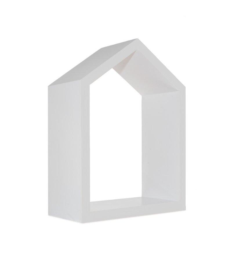 Półka domek Young Deco - mała, szara