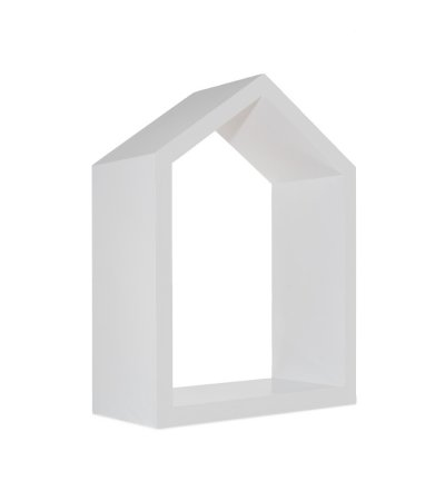 Półka domek Young Deco - duża, szara