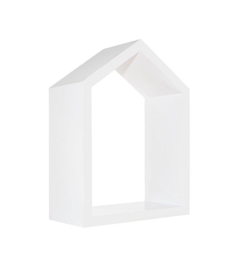 Półka domek Young Deco - mała, biała